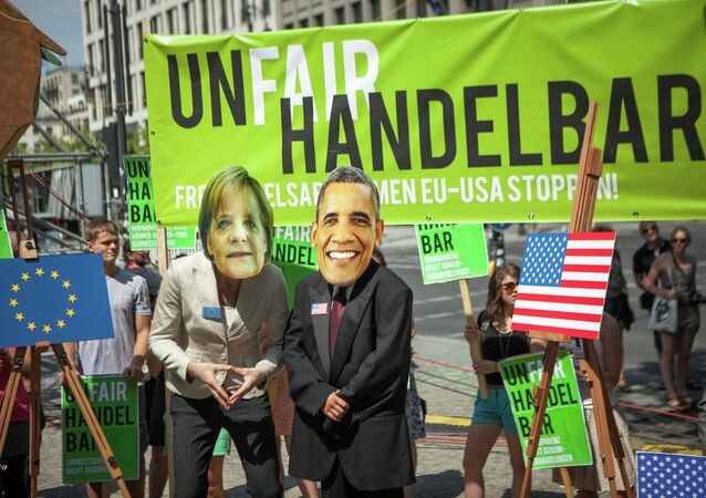 Manifestazione anti-TTIP (foto d'archivio)
