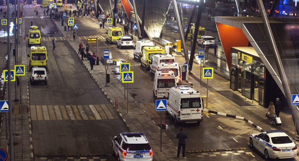 Ambulanze all'aeroporto Sheremetyevo