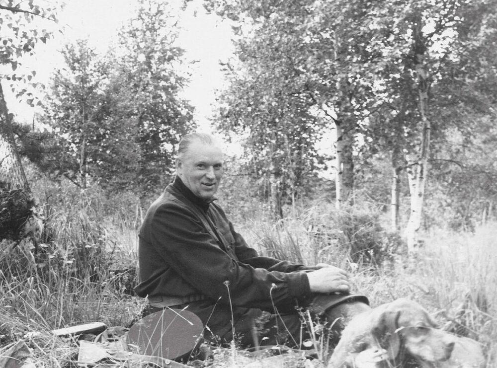 Il maresciallo Konstantin Rokossovskiy a caccia, in una foto degli anni '60