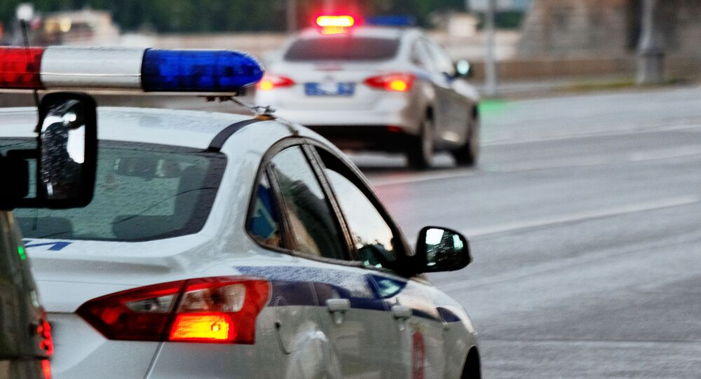 Macchine della polizia stradale a Mosca