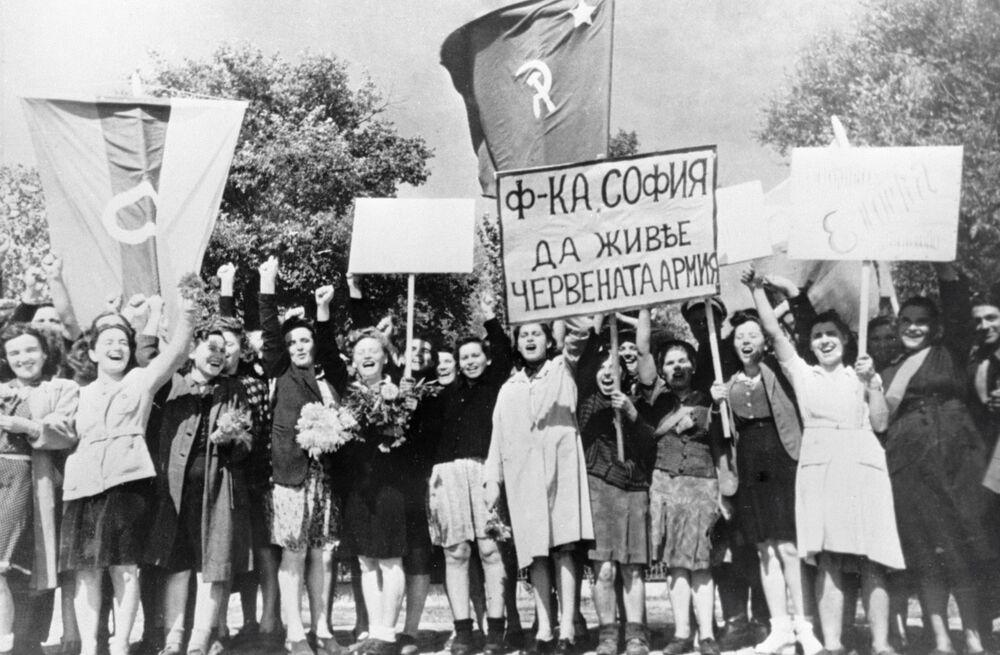Festeggiamenti del giorno della vittoria a Sofia