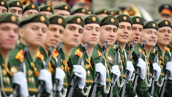 La formazione dell'Università militare del ministero della Difesa della Russia alla Parata della Vittoria 2019 - Sputnik Italia