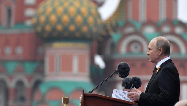Il presidente Putin prende la parola alla Parata della Vittoria 2019 - Sputnik Italia