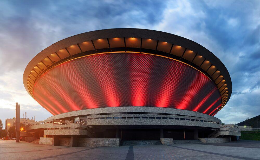 Lo Spodek di Katowice nel 2016.