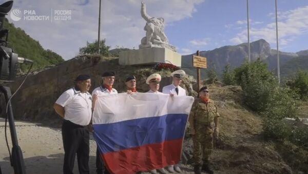 L'inaugurazione del monumento all'ufficiale russo Aleksandr Prokhorenko, caduto in Siria, in Italia - Sputnik Italia