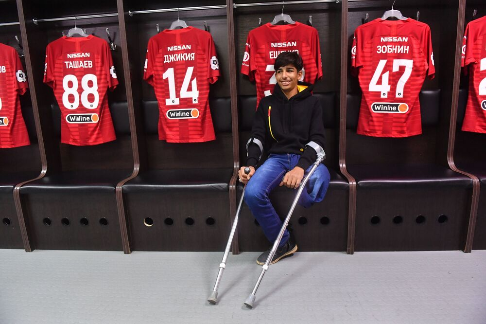 Qasim Alkadim nello spogliatoio dello Spartak Mosca