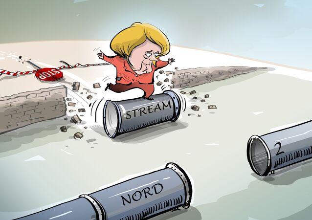 Merkel e Nord Stream 2
