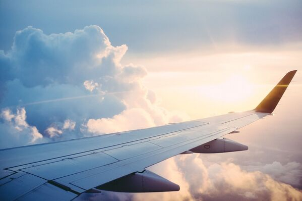 Vista dal finestrino di un  aereo. - Sputnik Italia