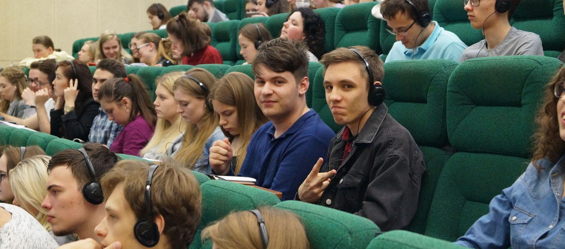 Studenti della facoltà di Studi Internazionali e Gestione Regionale dell'Università RANEPA di Mosca - Sputnik Italia, 1920, 08.07.2019