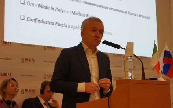 Il presidente di Confindustria Russia, Enresto Ferlenghi, risponde - Sputnik Italia