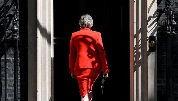Британский премьер-министр Тереза Мэй после заявления о своей отставке в Лондоне, Великобритания - Sputnik Italia