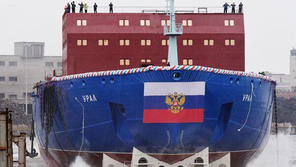 La rompighiaccio Ural a San Pietroburgo - Sputnik Italia