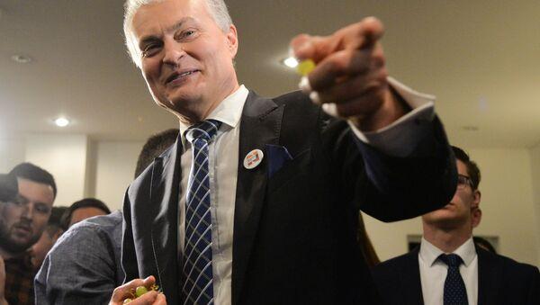 Il vincitore delle elezioni presidenziali in Lituania, Gitanas Nauseda - Sputnik Italia