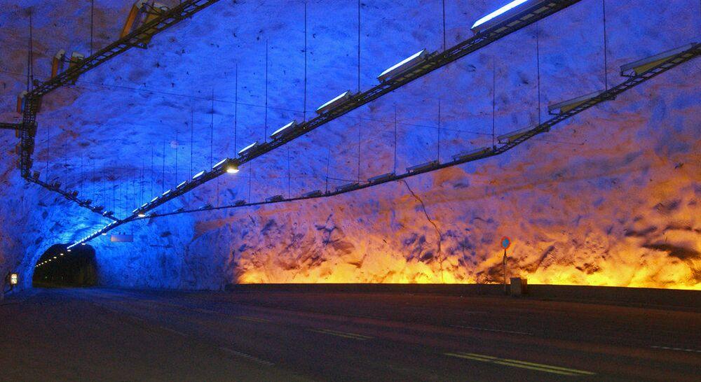 Il tunnel di Lærdal in Norvegia