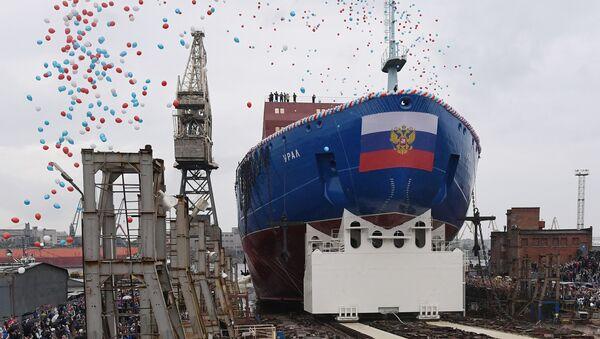A San Pietroburgo varata la nuova rompighiaccio Ural - Sputnik Italia