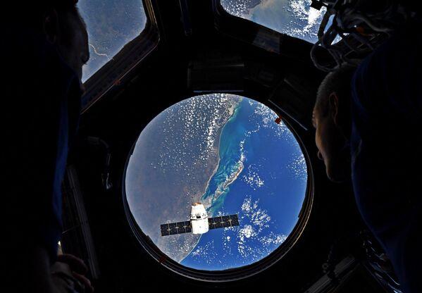 Il razzo-vettore Falcon 9 con la navetta Dragon lanciata da Cape Canaveral. - Sputnik Italia