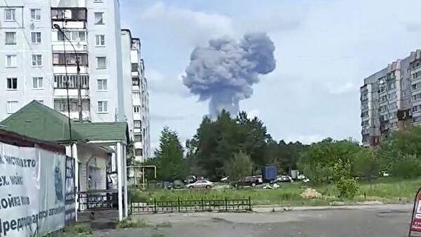 Le esplosioni nello stabilimento di Dzerzhinsk - Sputnik Italia