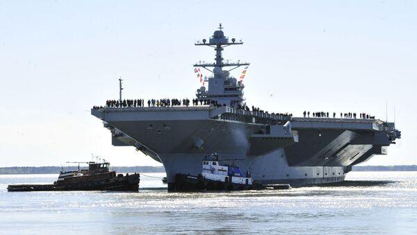 La portaerei Gerald R. Ford surante le esercitazioni. - Sputnik Italia