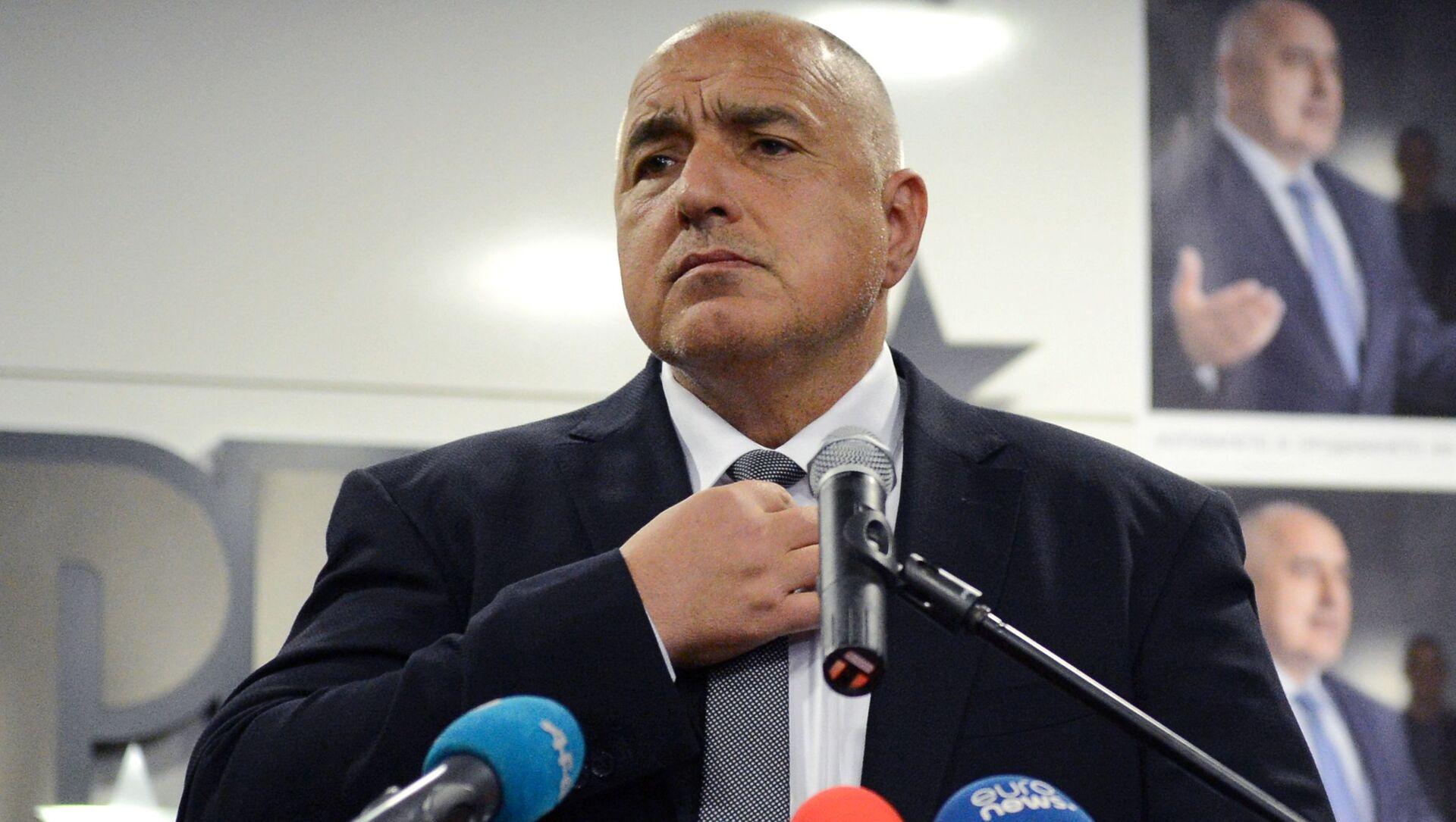 Il primo ministro bulgaro e leader del partito Cittadini per lo Sviluppo Europeo della Bulgaria, Bojko Borisov - Sputnik Italia, 1920, 04.04.2021