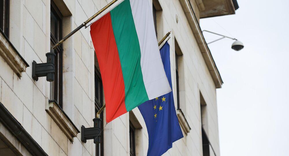 La bandiera della Bulgaria e dell'UE