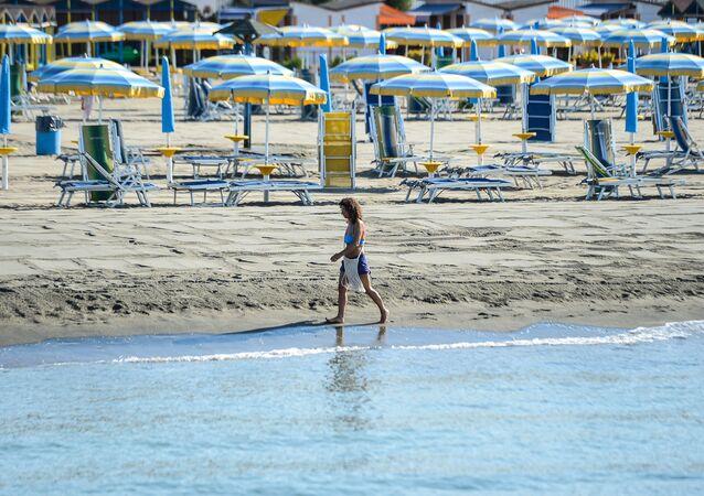 Spiaggia a Lido di Ostia