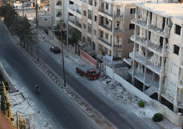 Case distrutte a Idlib, Siria
