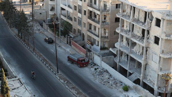 Case distrutte a Idlib, Siria - Sputnik Italia
