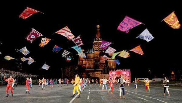 Gli Sbandieratori di Arezzo sulla Piazza Rossa nel 2007 - Sputnik Italia