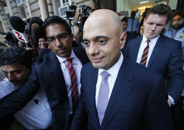 Il Segretario di Stato per gli affari interni del Regno Unito Sajid Javid