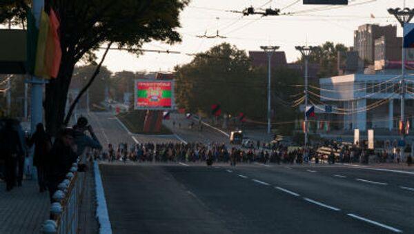 La via centrale di Tiraspol, capitale dell'autoproclamata repubblica di Transnistria - Sputnik Italia