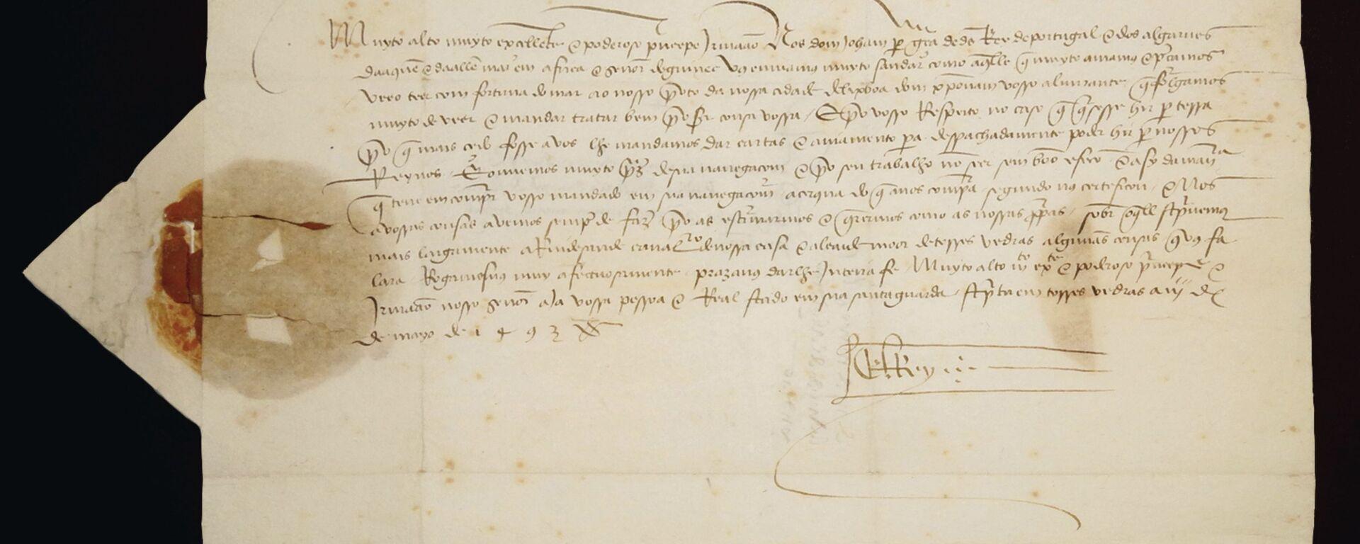 La prima lettera su successo spedizione di Cristoforo Colombo - Sputnik Italia, 1920, 14.06.2019