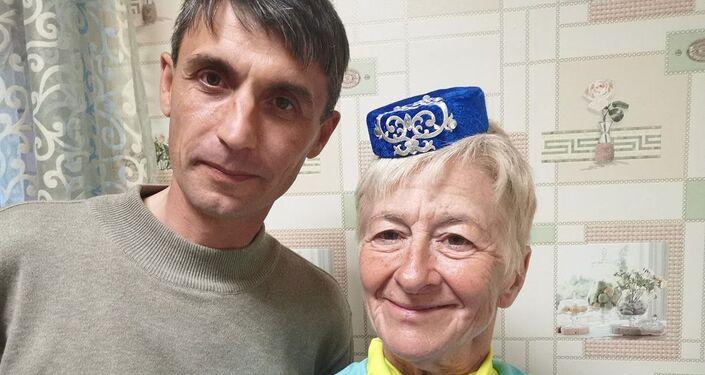 Francesca Filippi con il sindaco di Arsk