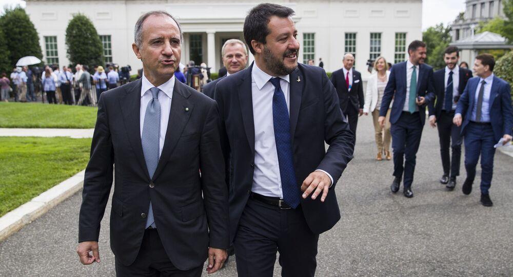 Matteo Salvini e Mike Pence