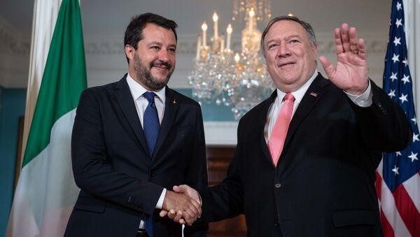L'incontro di Matteo Salvini con il Segretario di Stato Mike Pompeo - Sputnik Italia