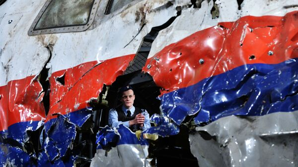 Ricostruzione del disastro del Boeing 777 Malaysia Airlines (volo MH17) nel Donbass il 17 luglio 2014 - Sputnik Italia