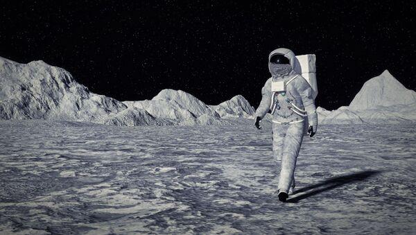 Astronauta sulla Luna - Sputnik Italia