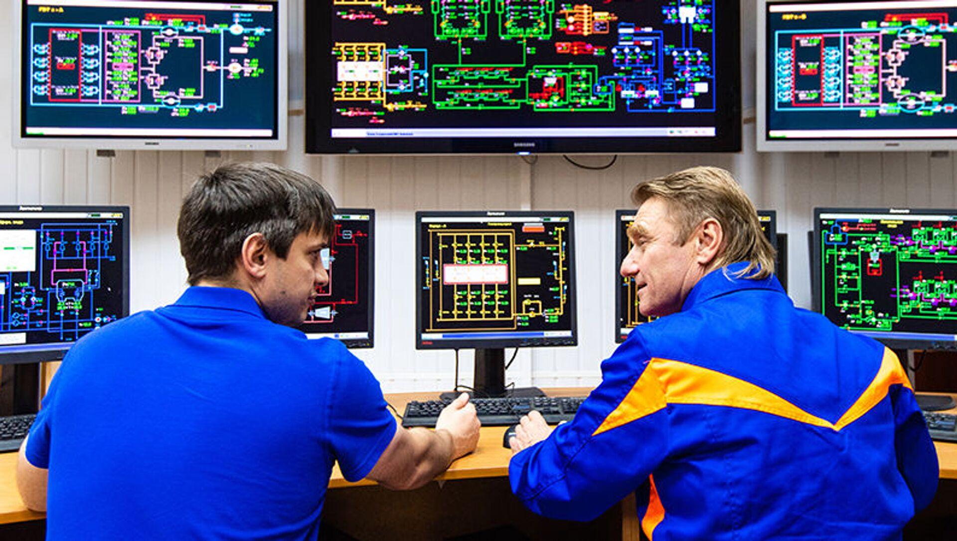 Tecnici al lavoro nella centrale termoelettrica Konokovskaya - Sputnik Italia, 1920, 23.03.2021