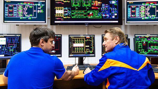 Tecnici al lavoro nella centrale termoelettrica Konokovskaya - Sputnik Italia