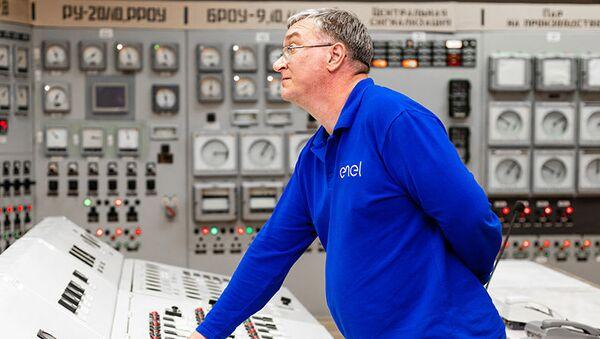 Un tecnico di Enel Russia al lavoro - Sputnik Italia