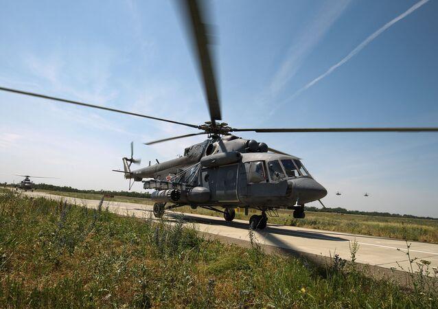 Un elicottero Mil MI-8
