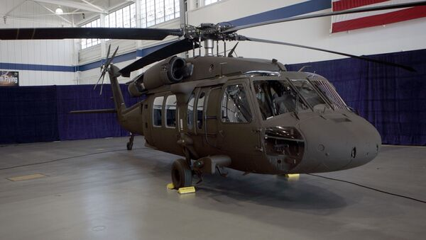 The latest version of the Sikorsky UH-60M Black Hawk helicopter is seen at the Sikorsky Aircraft plant in Stratford, Conn., Monday, July 31, 2006 - Sputnik Italia