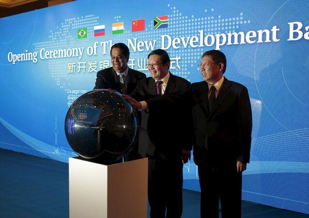 Cerimonia di inaugurazione della Banca per lo sviluppo dei paesi BRICS a Shanghai