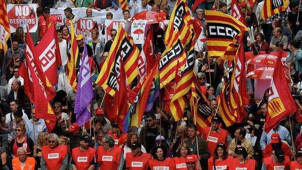 Manifestazione degli indipendentisti catalani - Sputnik Italia