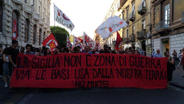 Corteo NO MUOS a Niscemi - Sputnik Italia