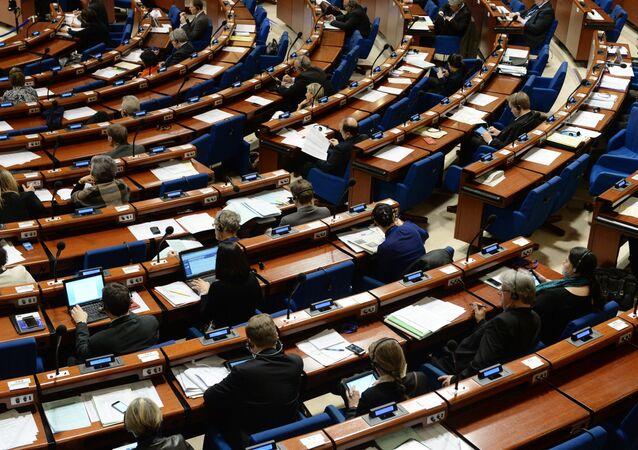 Delegati alla plenaria della sessione invernale dell'Assemblea Parlamentare del Consiglio d'Europa
