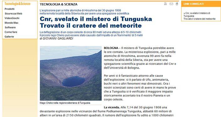 Lago Čeko - ricostruzione del presunto cratere
