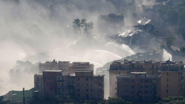 Dopo la demolizione del ponte Morandi a Genova, 26.08.2019 - Sputnik Italia