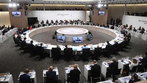 Заседании глав делегаций государств – участников Группы двадцати, приглашенных государств и международных организаций в формате рабочего обеда в Осаке - Sputnik Italia