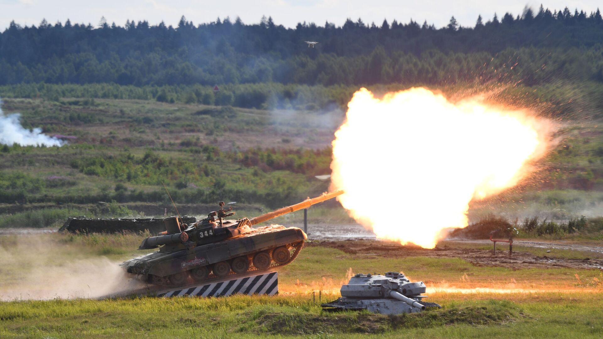 Il carro armato T-90A al forum tecnico-militare internazionale Armiya-2019. - Sputnik Italia, 1920, 18.03.2021