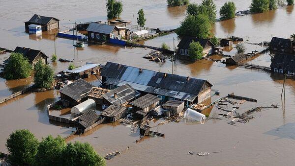 L'alluvione nella regione di Irkutsk - Sputnik Italia